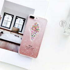Summer Ice Cream Glitter Starry Sky Soft Case Back Cover for iPhone 6S 7 8 Plus