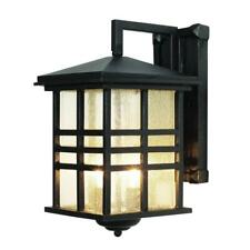 Bel Air Lighting Stewart 2-Light Black Outdoor Incandescent Wall Lantern Sconce