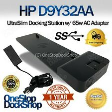 HP D9Y32AA#ABA UltraSlim 2013 Docking Station D9Y32UT with Generic 65W Adapter