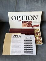 Vintage 1982 OPTION - double sided word game by Parker 100% COMPLETE with rules