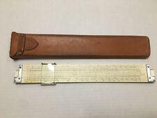 K&E N4081-3 Log Log Duplex Decitrig Slide Rule & Case