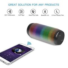 Bluetooth Speakers Portable Wireless Pulse LED Light FM Radio for iPhone Samsung