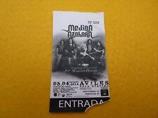Medina Azahara aviles 05/04/2014   Concert ticket Entrada Ç