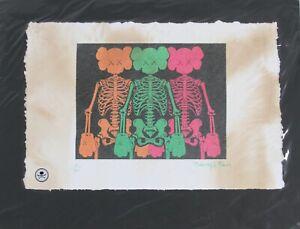 Kaws Companion Skeleton Print by Fairchild Paris LE 5/50
