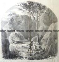 Antique Print 29-479 Mount Macedon c.1866 Victoria