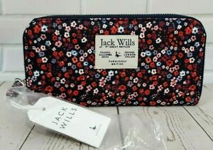 Jack Wills Alchester Long Zip Around Purse Multi Floral  New with Tag