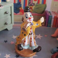 Dollhouse Porcelain CIRCUS CLOWN NURSERY BABY TOY Miniature Doll Statue Figurine