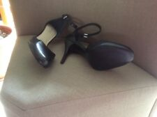 Nine West Black Leather Heels Size UK 8 BN £110.00