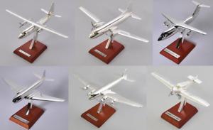 Lot de 6 avions plaqués argent 1/200 Editions Atlas - Focke Avro Junkers Convair