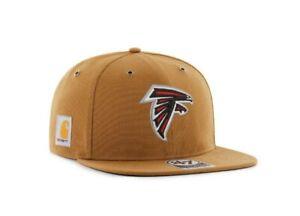 Atlanta Falcons '47 Brand Carhartt Captain Mens Brown Adjustable Hat cap new