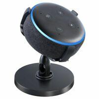 Holder For Amazon Echo Dot 3rd Gen Smart 360° Speaker with Clock Black Sandstone