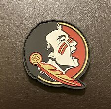 Florida State University (FSU) Rubber Patch (hook and loop backing): 2 inches