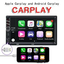 "7"" Double Din Car Stereo Radio FM Carplay MP5 Player for iOS Android Smartphone"