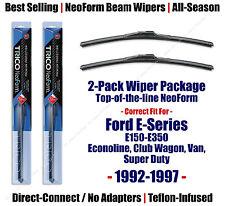 2pk Super-Premium NeoForm Wipers - fit 1992-1997 Ford E-150 E-250 E-350 16220x2