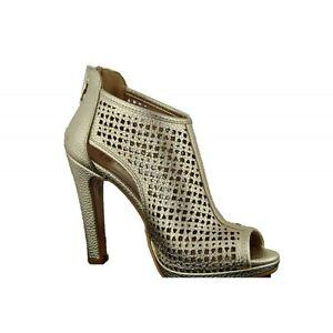 Sandales Chaussures Avec Talon Femme Open Toe Enveloppé Platine Made IN Italy