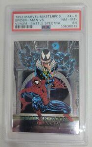 1992 Marvel Masterpieces Battle Spectra Spider-Man Vs. Venom 4-D PSA 8.5