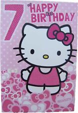 Hello kitty Birthday card for age 7 (SEVEN) by Gemma - 223866