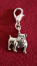 English Bulldog Pet Dog Dangle Bead for European Charm Bracelet Necklace Collar