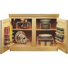 6 Pieces Kitchen Rack Dish Storage Cabinet Organizer Set Space Saver Kit White
