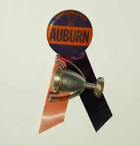 1972 vtg Auburn Tigers Sugar Bowl Souvenir pinback button footbal 1970s trophy