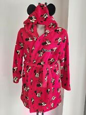 Disney MINNIE MOUSE size 14-16 DRESSING GOWN Large ROBE red short NEW - FREE PP