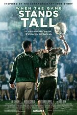 WHEN THE GAME STANDS TALL 2014 Movie Mini-POSTER High Sch Football Saga 151 wins