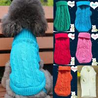 Hiver Costumes Pour Animaux Chien Chat Manteau Knit Sweater Pull Gilet Vêtements