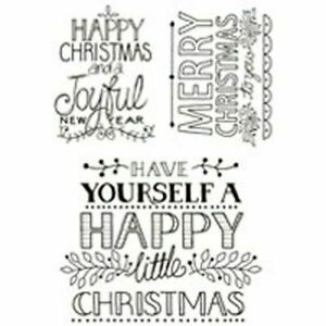 Woodware Clear Stamp Set - Hand Drawn Greetings JGS457