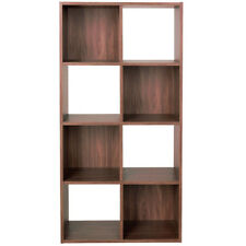Tall 8 Square Cube Storage Shelf Unit / Display Shelves - Walnut ZAS011063557