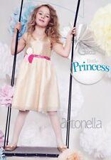 collant 10 / 11 ans blanc uni fille Gatta  antonella Enfant mariage communion