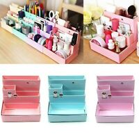 DIY Paper Board Storage Boxes Desk  Stationery Makeup Cosmetic Organizers