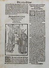 NARRENSCHIFF BRANT HOLZSCHNITT CHOR U. SCHWÄTZ NARR 1520 GEILER VON KAISERSBERG