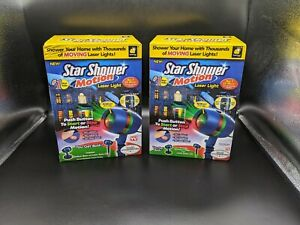 2 Bulbhead Star Shower Motion Laser Lights Projector Christmas Lights Done Easy