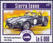 1965 SHELBY COBRA Superperformance Redux Classic Car Stamp (2015 Sierra Leone)