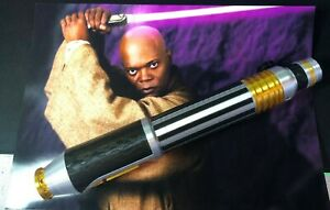 1:1 Scale - 3D Printed Mace Windu Lightsaber Hilt Cosplay/Prop/Collectable