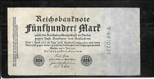 GERMANY GERMAN #74b 1922 500 MARK VG CIRCULATED OLD BANKNOTE NOTE PAPER MONEY
