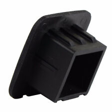 "1pc 2"" Hitch Receiver Cover Tralier Hauling Black Rubber Square Towing Cover"