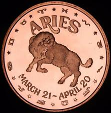 Zodiac Series - Aries    1oz .999 copper round