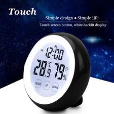 Digital Led Thermometer Hygrometer Touchscreen Backlight Timer Alarm Clocks