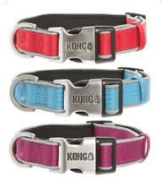 KONG Reflective Premium Neoprene Padded Dog Collar - Choose Color and Size