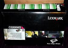 LEXMARK C5200MS Magenta for C520 C530 Box open - see pix TONER SEALED - GENUINE