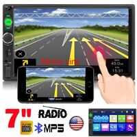 """7"""" Inch 2 DIN Car Stereo Radio MP5 Player Bluetooth Touch Screen In Dash USB TF"""