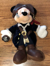 """Disney Parks Pirates Of The Caribbean Plush Mickey Mouse 15"""" Stuffed Toy"""