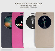 For Xiaomi Max Nillkin Smart Sleep View Sparkle Slim PU Leather Flip Case Cover