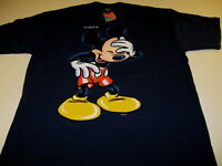 MICKEY MOUSE Laughing Hand On Hip INDIANA 1990s Dark Blue DISNEY Shirt New NWT L