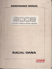 Used original Instruction manual with schematics for Racal-Dana 9008