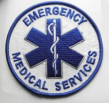 EMS EMERGENCY MEDICAL SERVICES FIRST RESPONDER EMBROIDERED PATCH 3.75 INCHES