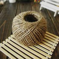 2 Ply Jute Hessian Burlap Twine Natural Brown Sisal Rustic String Cord 30M/Roll