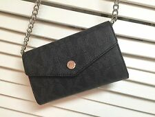 Michael Kors Crossbody Bag for IPhone 5 and 4S Leather Grey Monogram