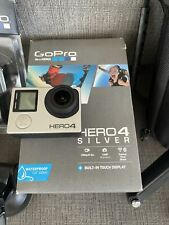 GoPro Hero4 Action Camera Silver Charger 4 Batteries & Extra Huge accessories